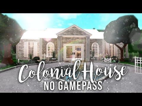 Roblox   Bloxburg: No Gamepasses Colonial House   House Build
