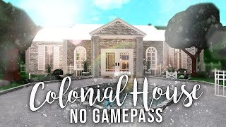 Roblox | Bloxburg: No Gamepasses Colonial House | House Build