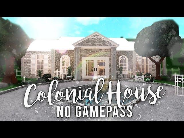 Roblox Bloxburg No Gamepasses Colonial House House