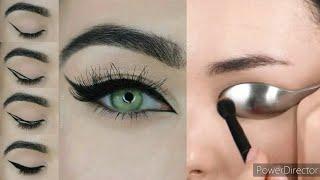 5 طرق سهلة وسريعة لتحترفي رسم الايلاينر /طريقة رسم الايلاينر للمبتدئات+حيل روعة لمكياج العيون 😍🔥