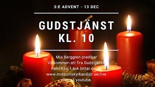20201213 Gudstjänst i Missionskyrkan i Bor kl. 10