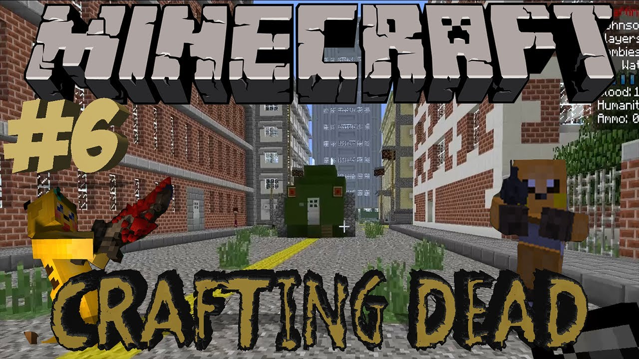 minecraft the crafting dead ep 6 atlanta city youtube