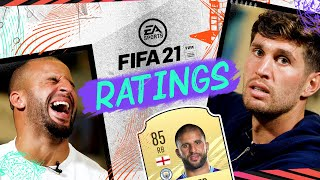 I'M FASTER THAN RAHEEM! | FIFA PLAYER RATINGS | WALKER & STONES
