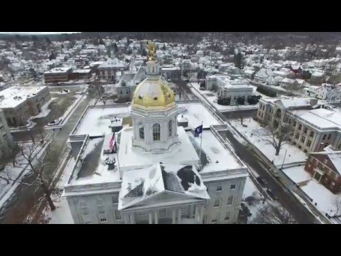 Downtown Concord, NH [Fly With Me] - DJI Phantom 3 Professional (4K)