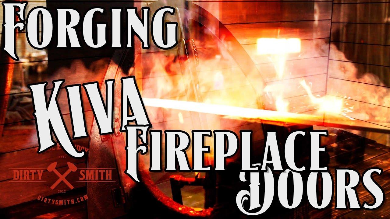 Fireplace Doors Custom Forged And Fabricated Kiva Design Youtube
