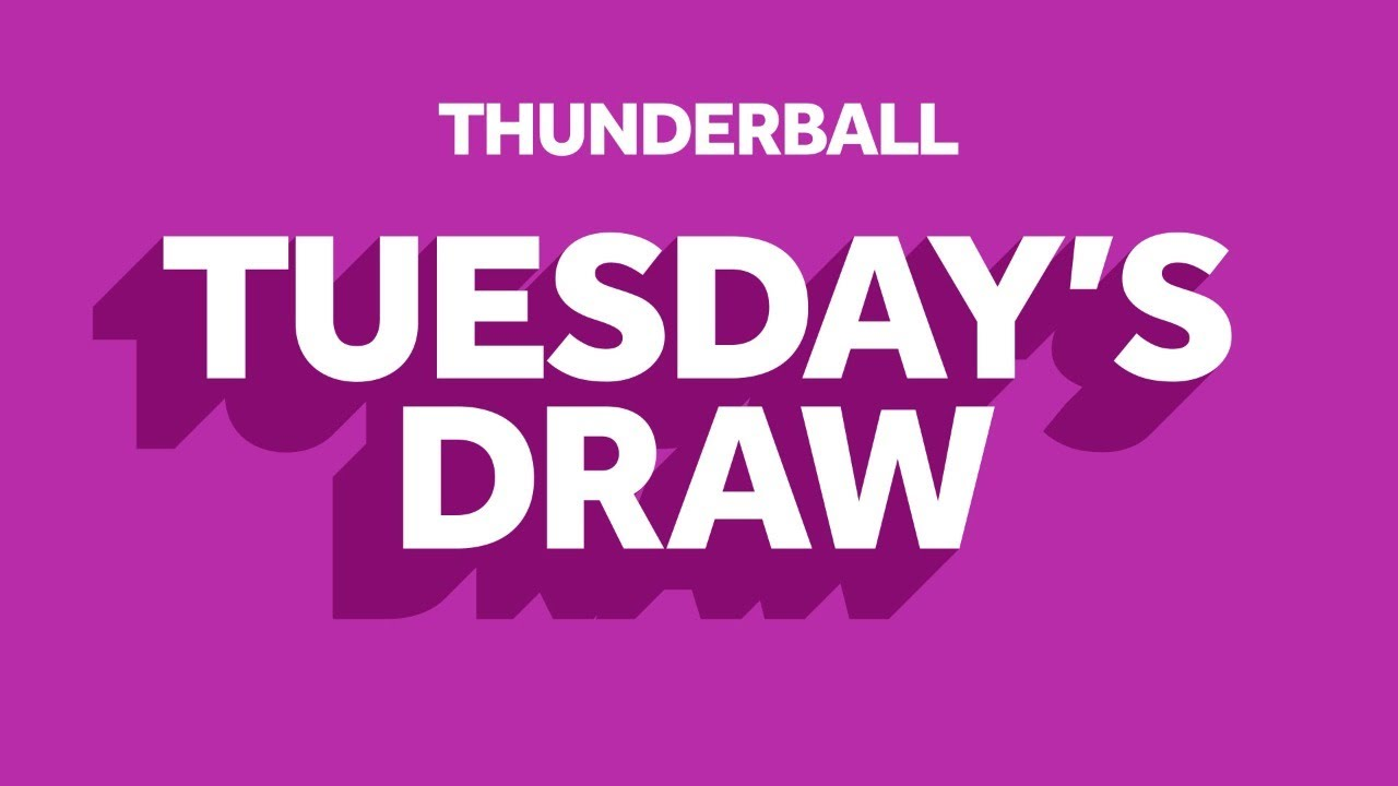 The National Lottery 'Thunderball' draw results from Tuesday 14th July 2020