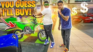 GUESS THE DIRT BIKE & I WILL BUY IT CHALLENGE ! | BRAAP VLOGS