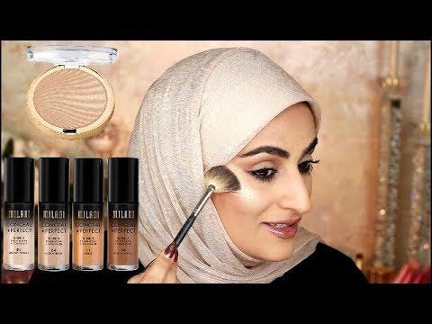 54f697d2e MILANI FOUNDATION REVIEW ... تجربة فونديشن وهايلايت ميلاني. amira almubarak  makeup