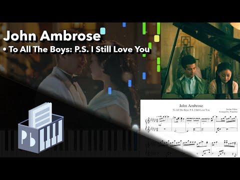 John Ambrose Piano Scene - To All The Boys 2 OST (Piano Tutorial)