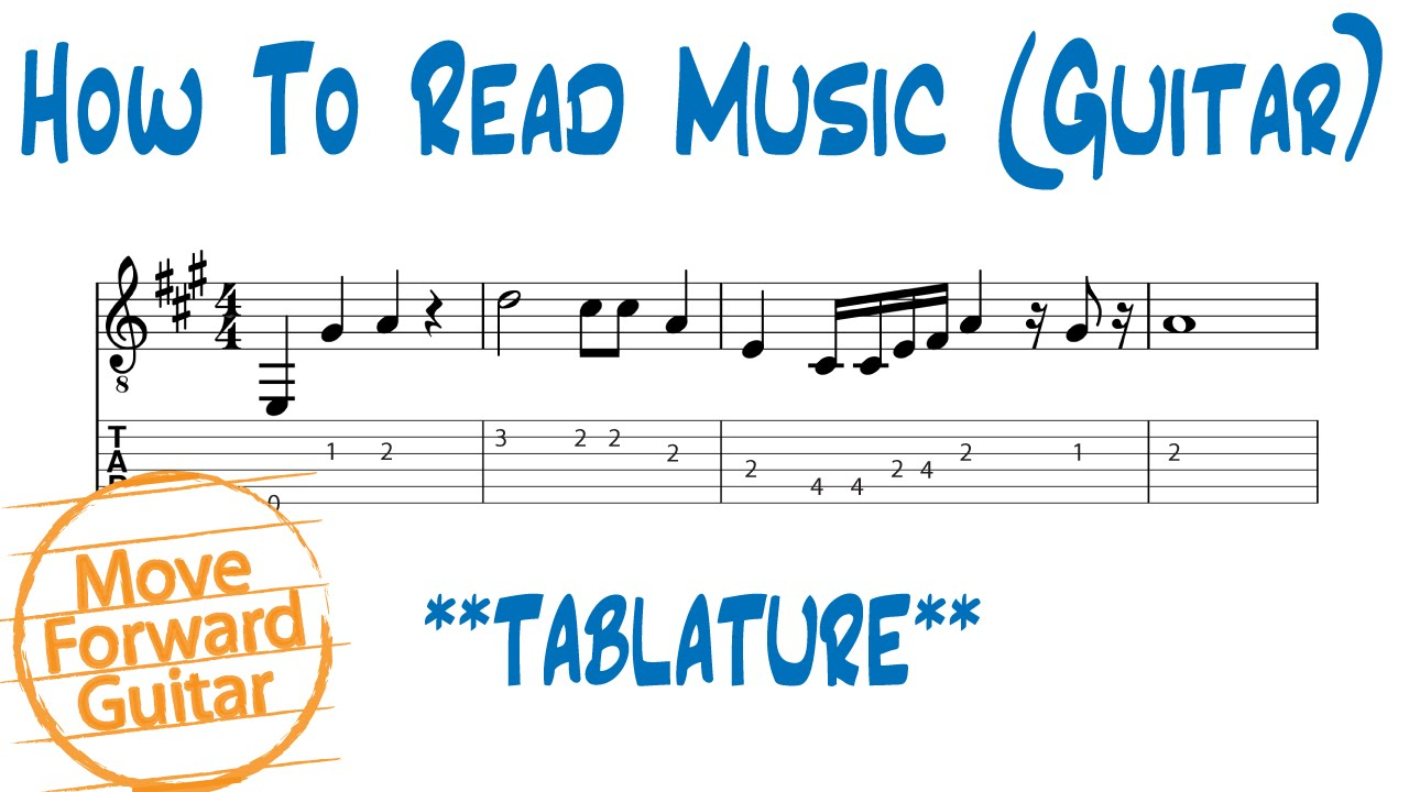 How to read music guitar tab vs standard notation youtube hexwebz Gallery