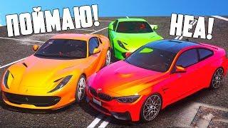 КОШКИ МЫШКИ В GTA 5 ONLINE. ПАРЕНЬ НА BMW ОГРАБИЛ БАНК И УДИРАЕТ ОТ ОХРАНЫ!