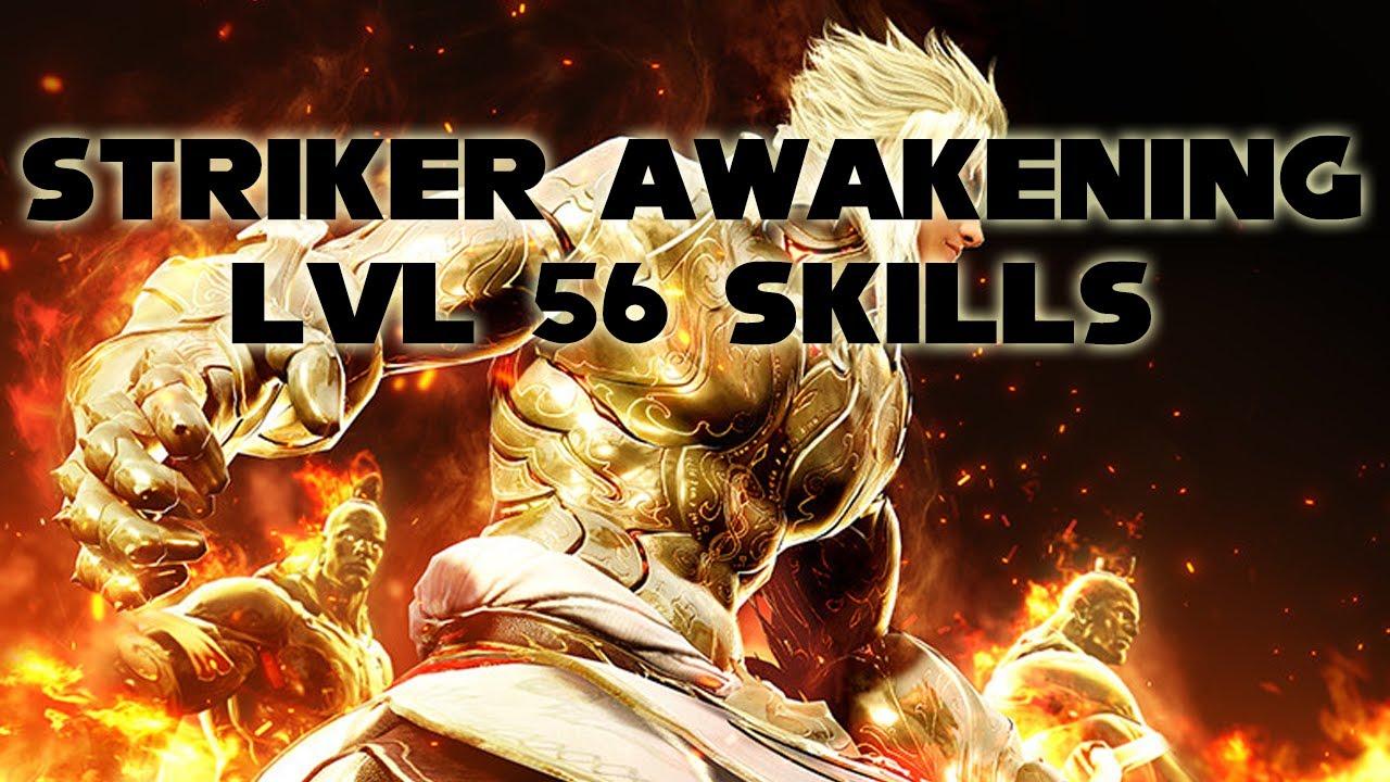 Bdo Striker Awakening Lvl56 Skills Kr Black Desert Online Youtube