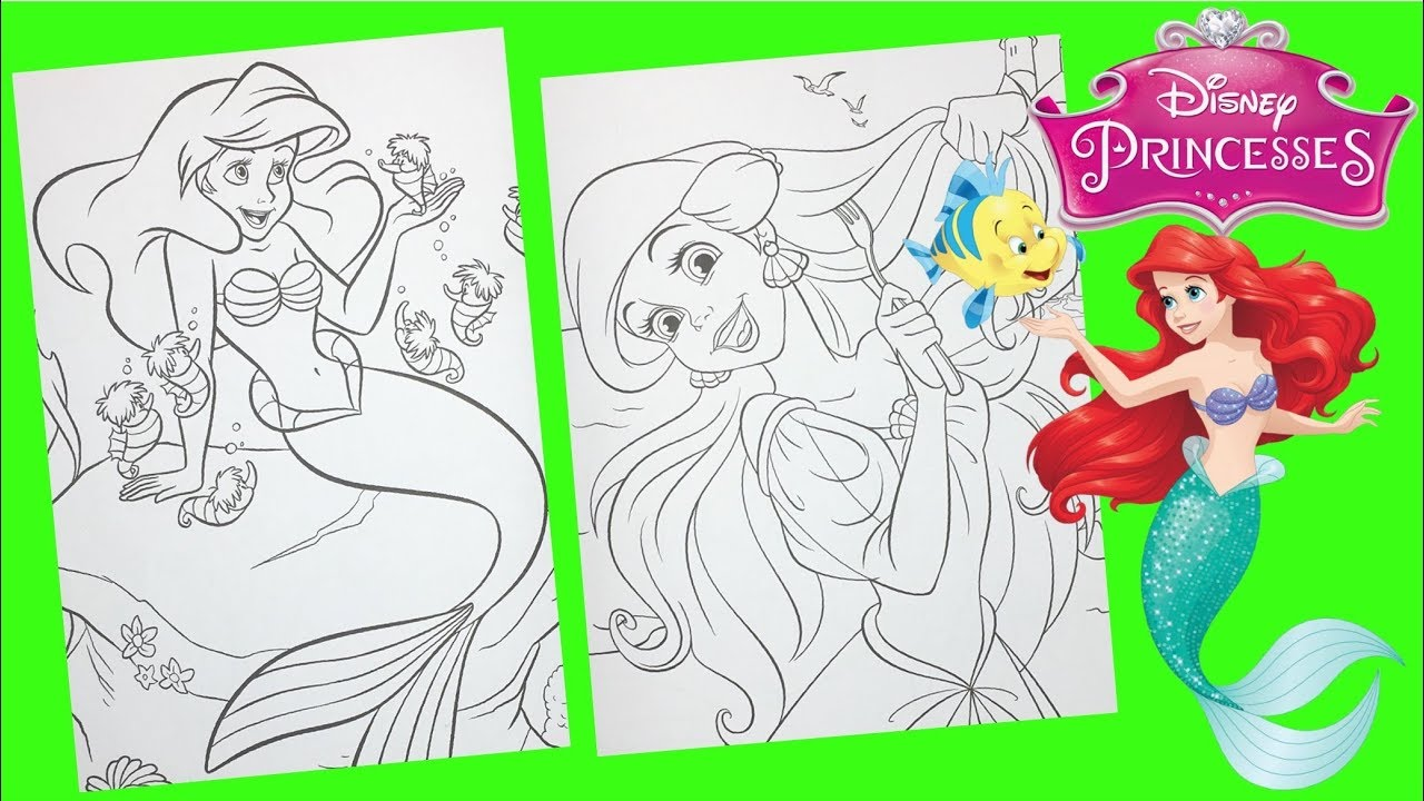 Coloring Page Disney Coloring Page The Little Mermaid | PicGifs.com | 720x1280