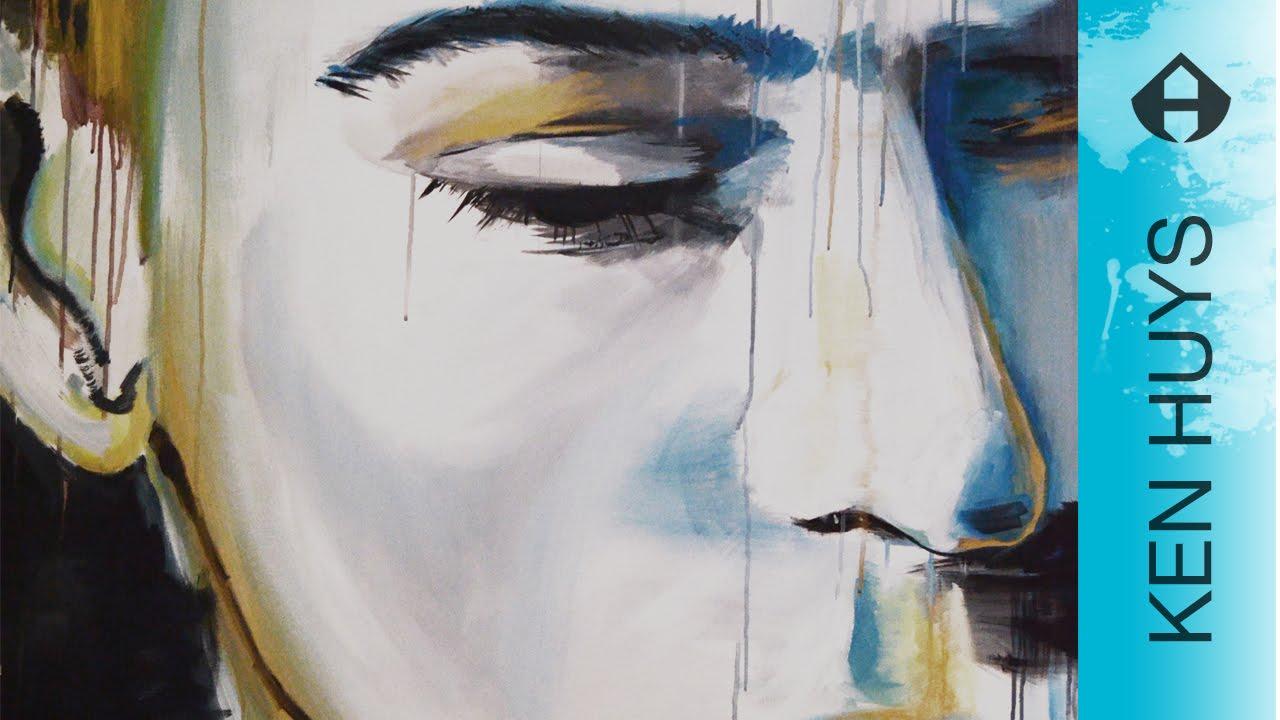 Hoe schilder je een abstract gezicht how to paint a face 39 solco 39 youtube - Hoe een verf kleur voorbereiden ...
