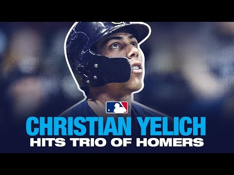 Yelich hits trio of Homers!