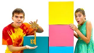 Nastya e Artem desafio misterioso em casa, desafios engraçados para crianças