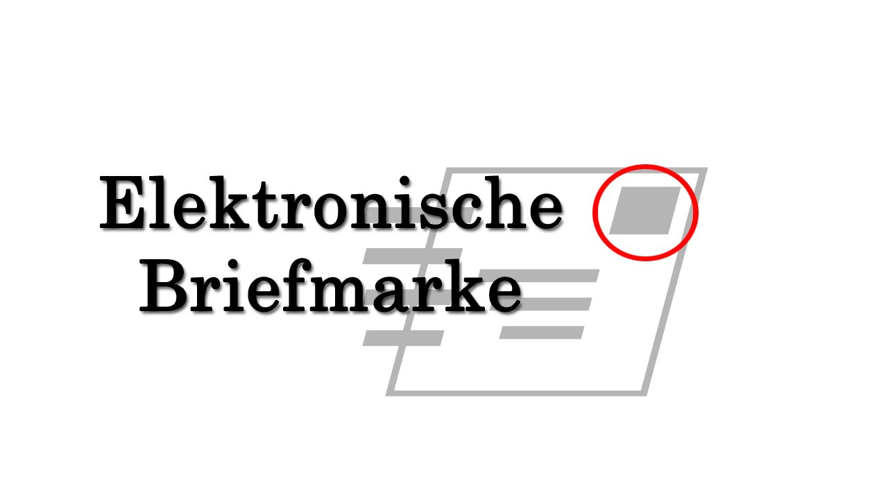 Die Elektronische Briefmarke Tutorial Internetmarke