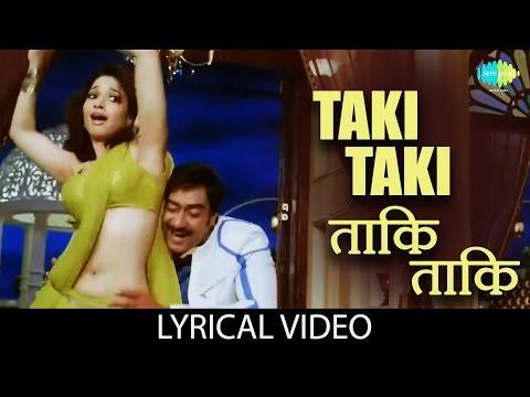 Taki Taki with lyrics | ताकि ताकि गाने के बोल | Himmatwala | Ajay Devgan, Tamannah