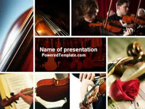 violin collage powerpoint template by poweredtemplate com youtube