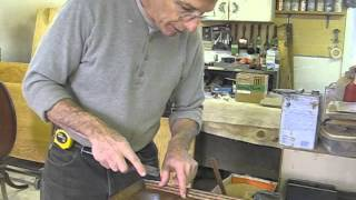 Plugging Holes In A Quartersawn Oak Mirror Frame - Thomas Johnson Antique Furniture Restoration