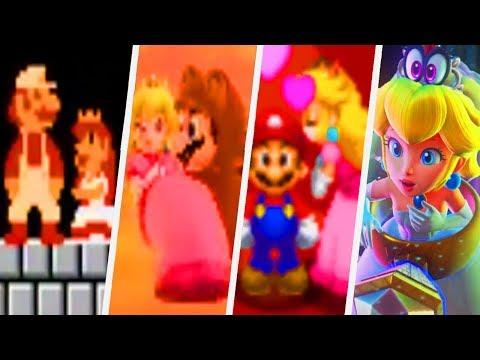 Evolution of Mario rescuing Princess Peach (1985 - 2017)