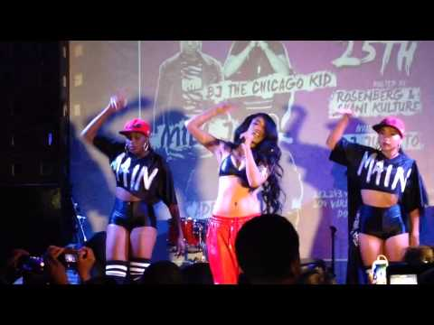 """Mila J Performs """" Smoke Drink Break Up """" At SOBs For Hot 97 Who's Next Showcase NYC"""