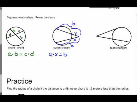 H-F Final Exam Review: Geometry Honors Chapter 10 Circles