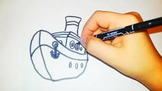 Cok Kolay Gemi çizimi Drawity Thewikihow