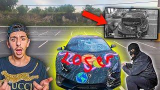 Hater DESTROYS FaZe Rug's Lamborghini... **CAUGHT ON CAMERA**