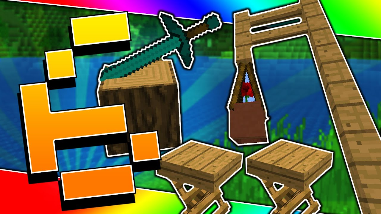 6 Minecraft Decorations You Should Have For Your House Hammock Chairs Axe In Log More Youtube