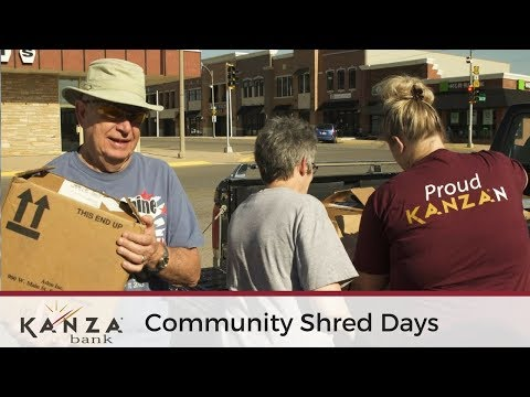 KANZA Bank Community Shred Events