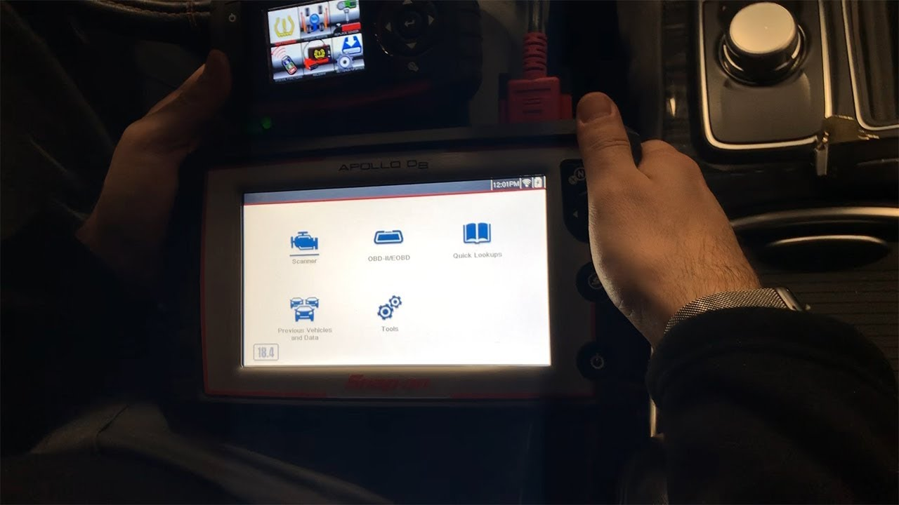 Snap-on TPMS4 Relearn for Chrysler 300 with Apollo D8 Scan Tool
