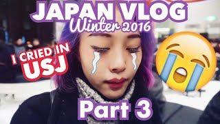 I CRIED IN USJ & WORST DAY EVER - Japan Winter 2016 Vlog Part 3 | JANINE INTANSARI