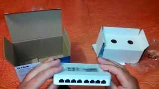 Огляд Комутатор D-Link DES-1008A 8 port