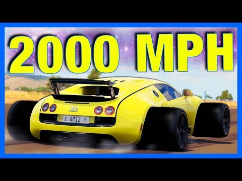 Forza Horizon 3 : 2000MPH BUGATTI VEYRON!! **120 Million Horsepower**