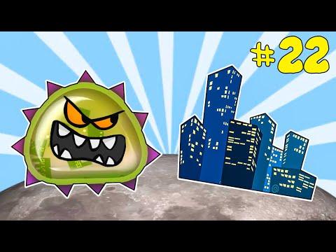 Лизун СЛИЗНЯК захватывает мир #22. Глазастик съел ГОРОД. Игра Mutant Blobs Attack