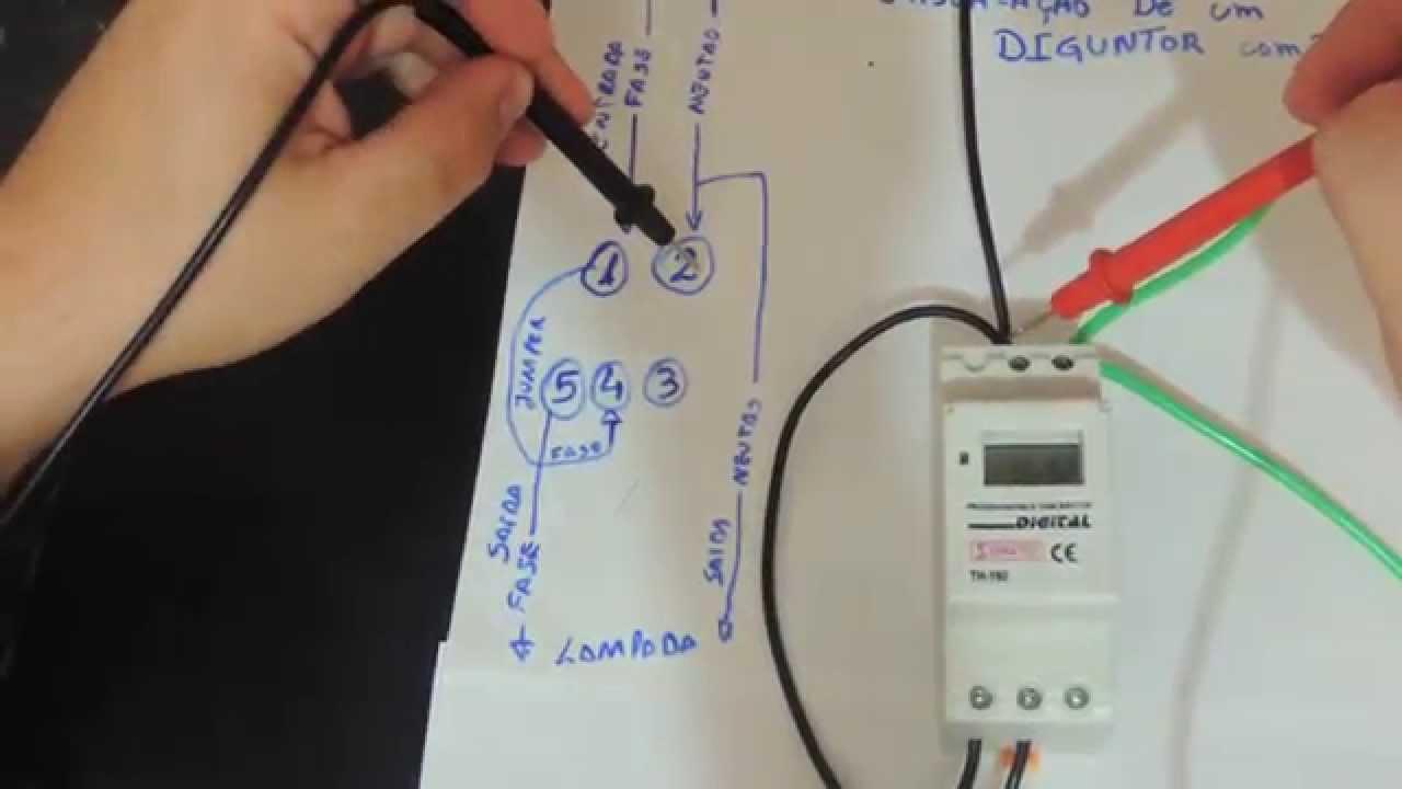 Como instalar um disjuntor programavel ou timer digital - Temporizadores de luz ...