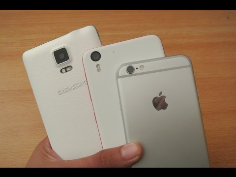 Samsung Galaxy Note 4 vs HTC Desire Eye vs iPhone 6 - Speed Test Comparison HD