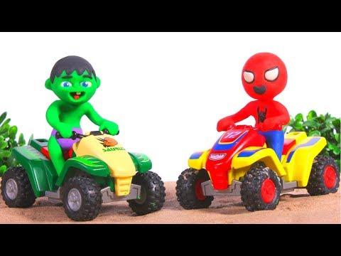 SUPERHERO BABIES RIDE QUADS IN THE SAND...