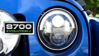 model 8700 evolution j series led off road headlights