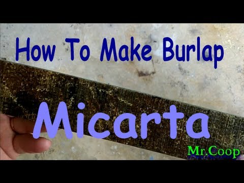 How to: Make Home-Made Micarta Out Of Burlap