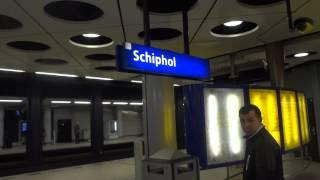 Поезд из Аэропорта Амстердама в Центр Города.Май2014г