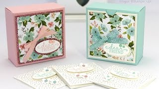 Pretty Box for 3x3 cards... Or for Soaps!