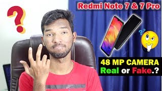 Redmi Note 7 & Note 7 Pro 48MP Camera  Real or Fake..?? Explained in Telugu