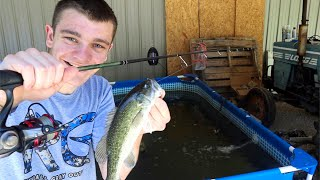FISHING IN THE POOL POND! (Success!)