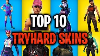 TOP 10 SWEATIEST AND TRYHARD SKINS FORTNITE BATTLE ROYALE - Soccer Skin Renegade Raider Black Knight