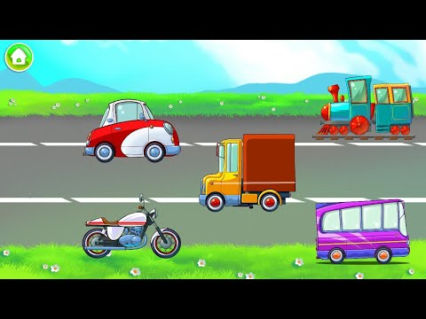 Learning Transport Vehicles For Kids And Toddlers (Kids Games)