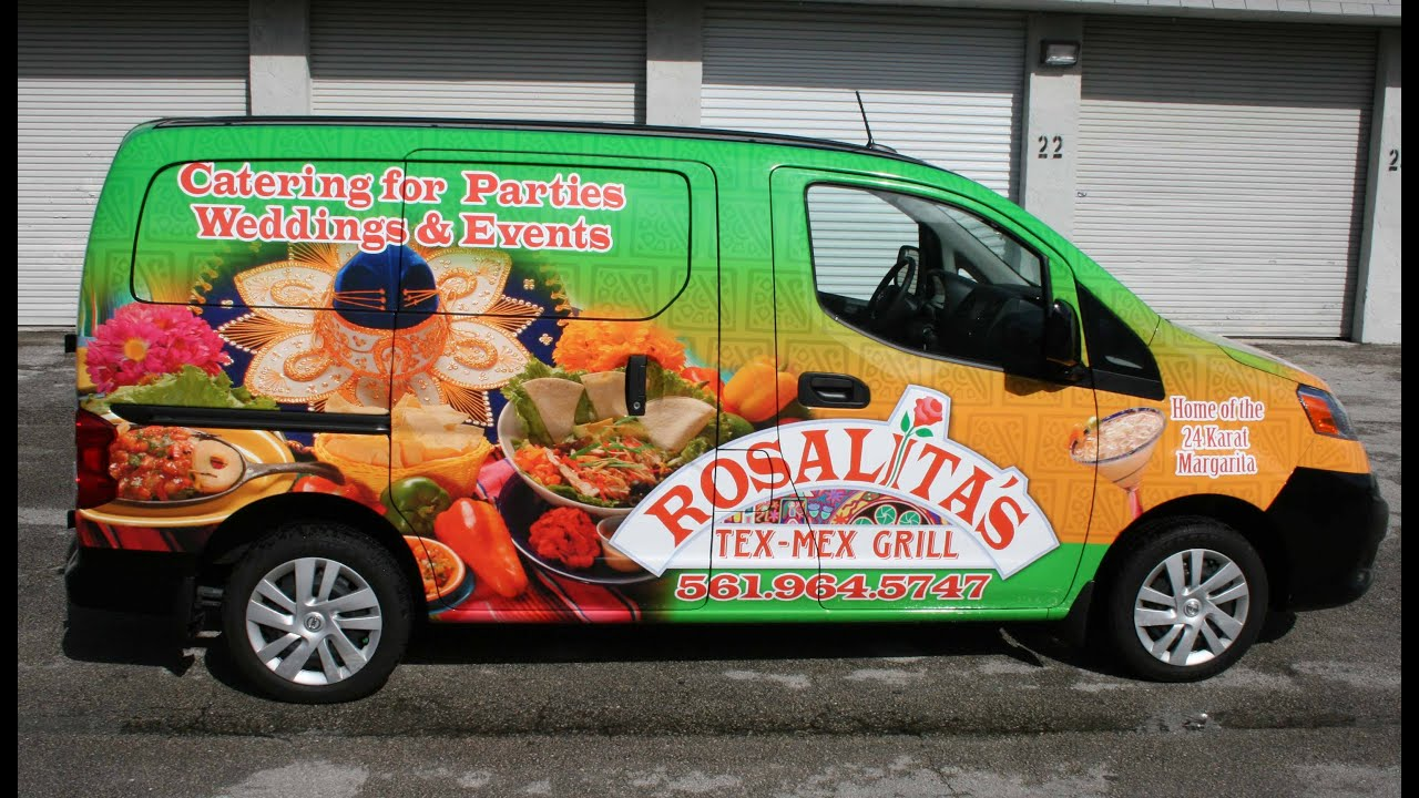 Nissan Nv 200 Van Restaurant Amp Catering Vehicle Wrap