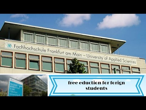 how to get admission at Frankfurt University of Applied Sciences, free education and best university