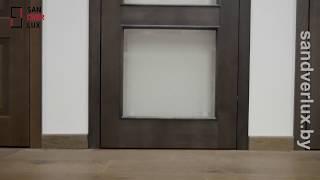Обзор межкомнатной двери из массива сосны М217 Нео , Поставский мебельный центр - Sandverlux.by